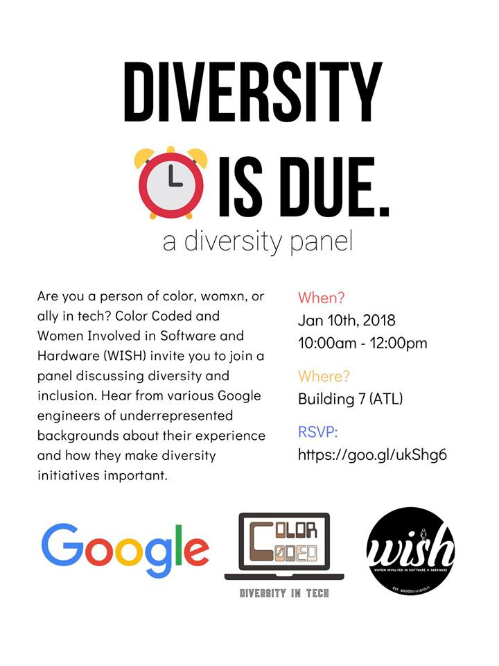 Diversity is Due event